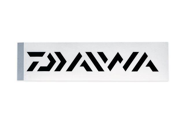 ロゴだけが残るカッティングタイプの「DAIWAステッカー」は、ブラック、ホワイト、シルバーの3色で展開