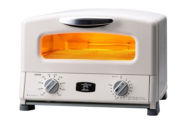 テレビドラマや料理番組などで小道具として映り込んでいるのもよく見ますね、アラジンのオーブントースター