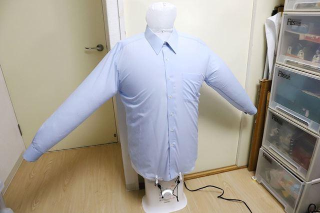 「パツーン!」と音がしそうなほどにふくらんだシャツ