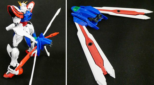背中のコアランダーは取り外し可能。コックピットを回転させて飛行形態にもできます