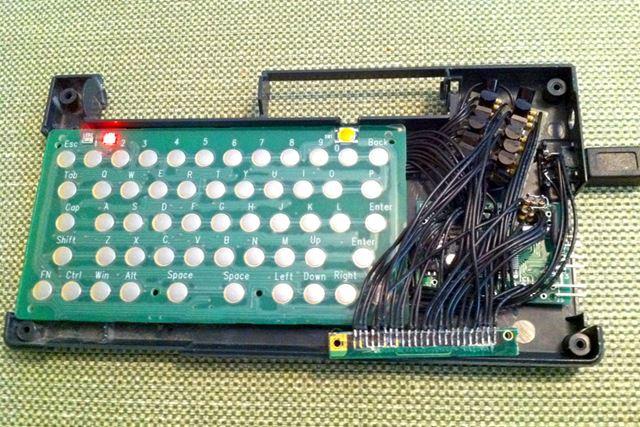 HP200LXの基板を差し替えて、Bluetoothキーボードを自作