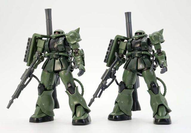左が「HG 1/144 ザクII C型/C-5型」、右が「HG 1/144 ザクII C-6/R6型」