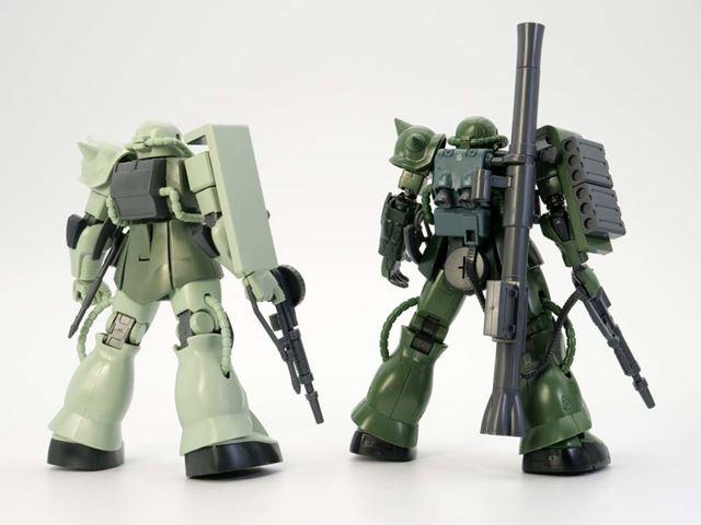スタイルはもちろん、装甲色グリーンの色合いも変わっています