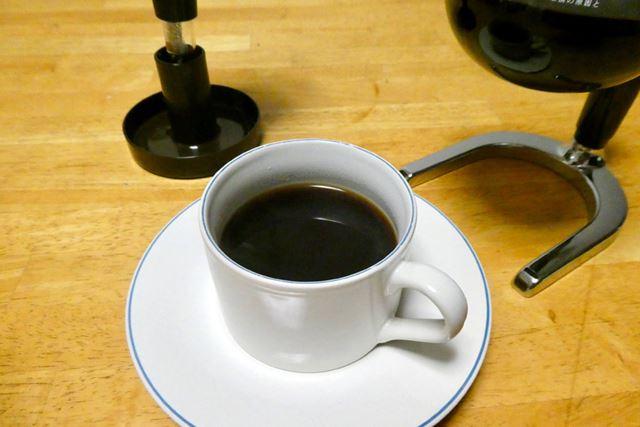 人生初のサイフォンコーヒーが無事完成しました