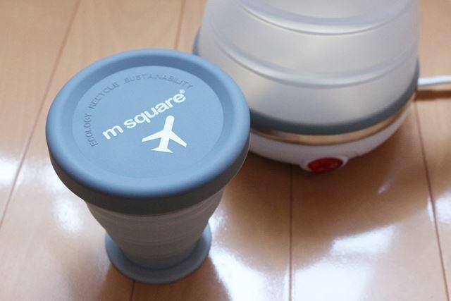 コンパクトになるシリコンカップ。私は旅行に持って行く時以外は防災リュックに入れています