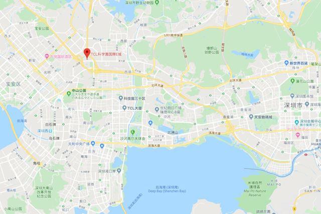 Google Mapで見るTCL科学園国際E城はココ!
