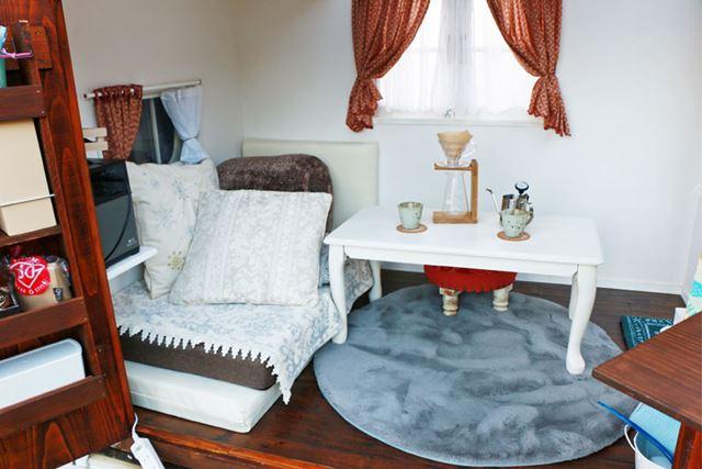室内もかわいい! 小物ひとつずつのセレクトにも世界観を創出するためのこだわりが見られる