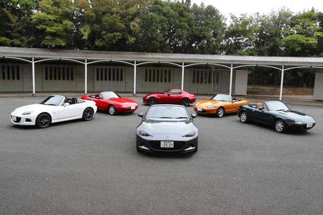 マツダ「ロードスター」初代から新型まで歴代モデルに全試乗!