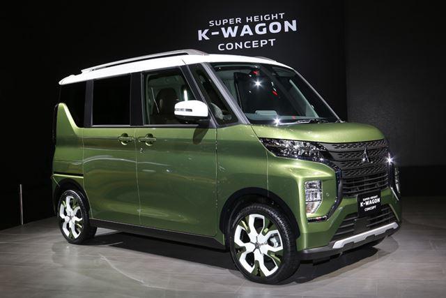 東京モーターショー2019で発表された、三菱「スーパーハイトKワゴンコンセプト」