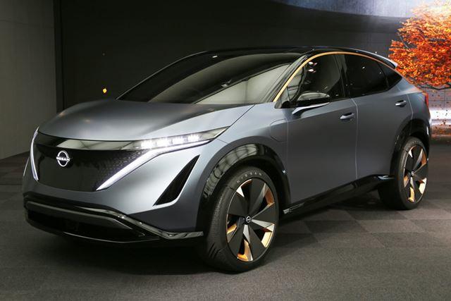 東京モーターショー2019に出展された、日産「アリアコンセプト」