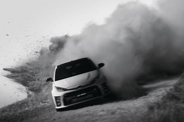 """トヨタ「GRヤリス」1st Edition RZ""""High performance""""の走行イメージ"""