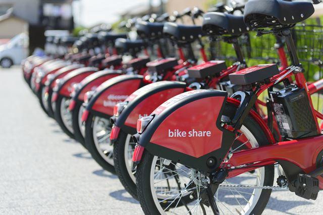 都市部での移動の際に活躍するシェアサイクル
