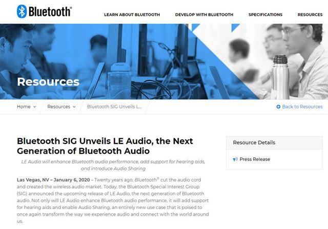 Bluetooth新規格「LE Audio」が発表