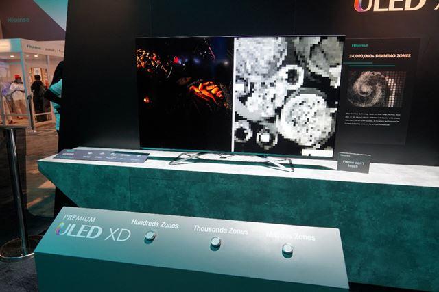 海外では2層構造の液晶パネルで明るさを制御する「DUAL CELL」を導入済み