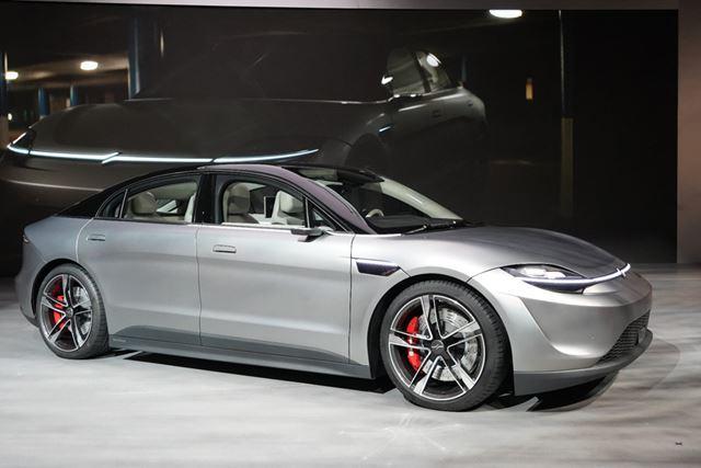 ソニーが披露した電気自動車の試作機「VISION-S」の車載オーディオシステムも「360 Reality Audio」搭載だ