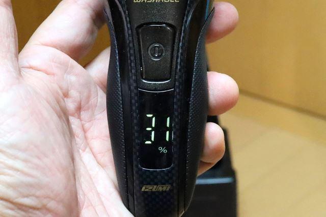 1%刻みのバッテリー残量表示はとても便利です