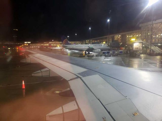 成田空港−バンクーバー間のフライトで検証
