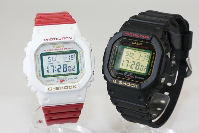 左「DW-5600TMN-7JR」、右「DW-5600TMN-1JR」。公式サイト価格はともに14,300円(税込)
