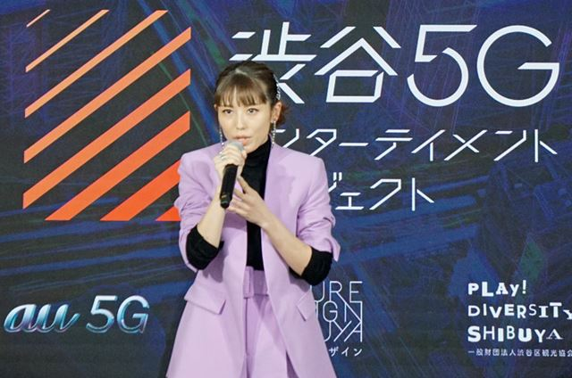渋谷区民であり、渋谷未来デザインのメンバーであるタレントの若槻千夏さんが、5Gの可能性を熱く語った