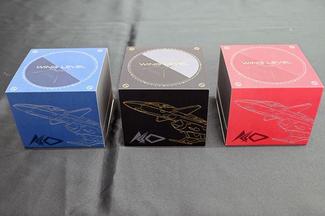 「青ver.」「黒ver.」「赤ver.」のパッケージデザイン