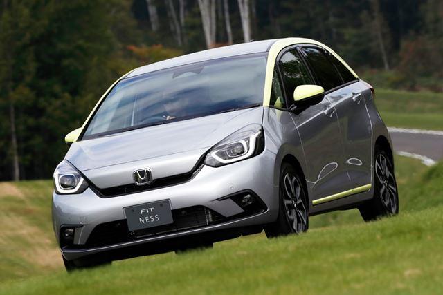 新型「フィット」1.3Lガソリンエンジン車の走行イメージ