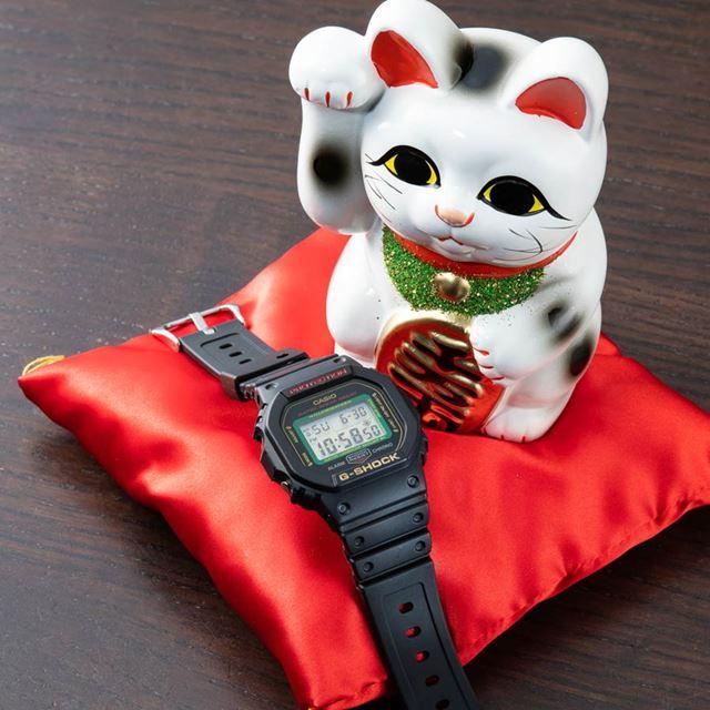 黒招き猫をイメージした「MANEKINEKO DW-5600TMN-1JR」(14,300円)