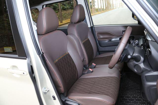 三菱 新型「eKクロススペース」のフロントシート