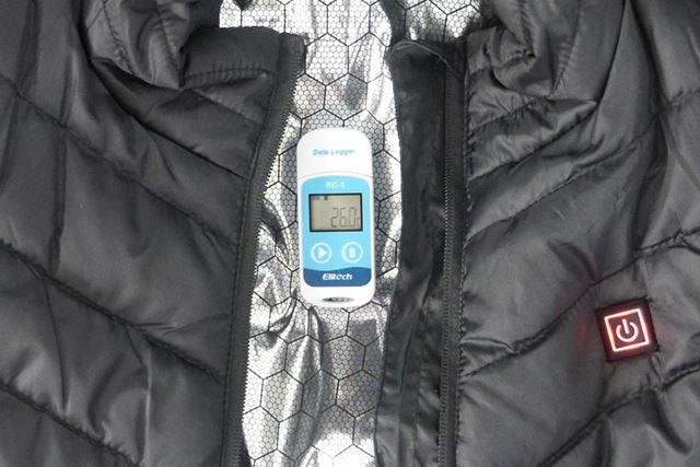 ……というわけで、温度変化を記録できる温度計を使って計測します