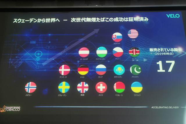 「ベロ」は、すでに北欧を中心とした17か国で販売されている