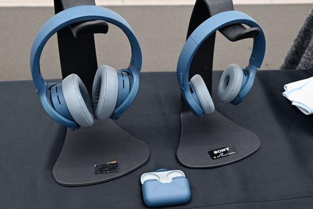 「h.ear」シリーズのヘッドホン「WH-H910N」「WH-H810」と共通のカラーリングを採用