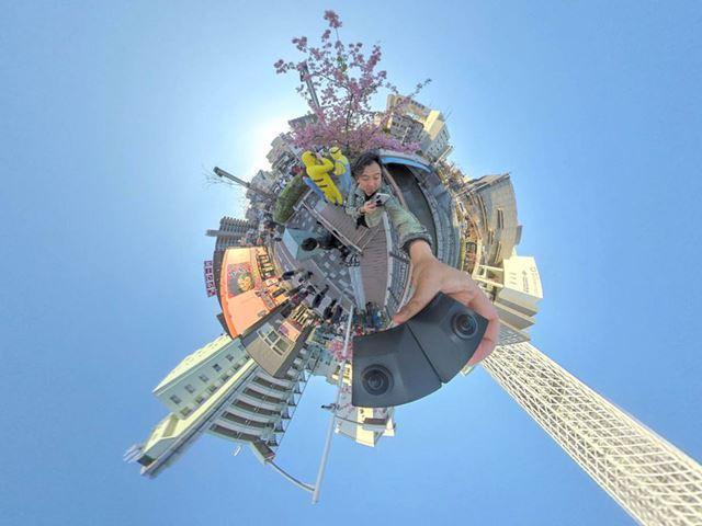 「Insta 360 ONE X」で撮影したスモールプラネット写真の例