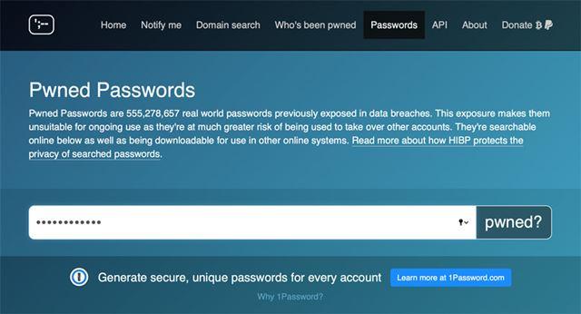 パスワードを入力して「pwned?」ボタンを押す