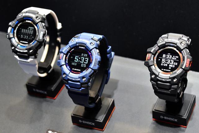 左から、「GBD-100-1A7JF」「GBD-100-2JF」「GBD-100-1JF」