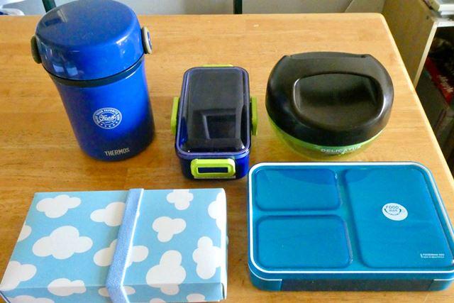 今回はタイプ別に5種類のお弁当箱を用意しました