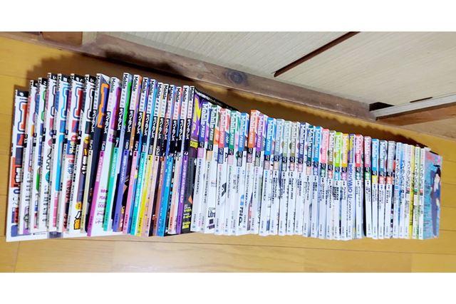 当時の読者が保存していたMobilePRESS全巻。左にあるのが月刊誌で、途中から季刊誌に