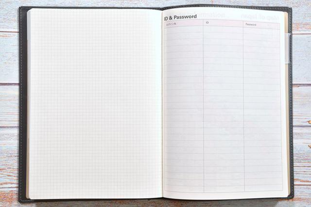 ノートのほか、「ID & Password」リストや映画リストなどのフォーマットを採用するモデルもある