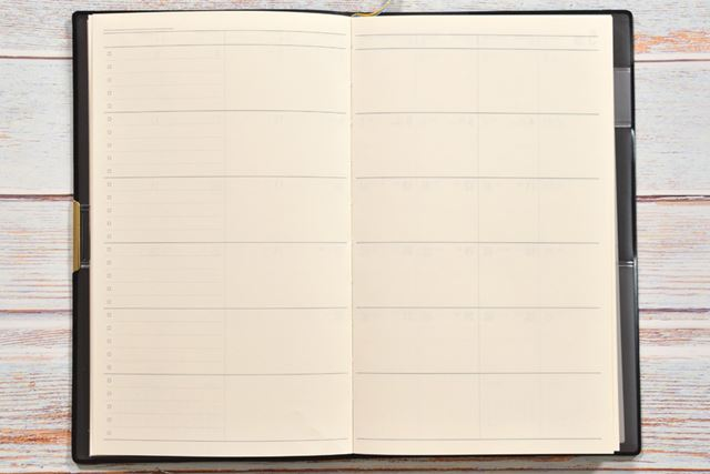「エクストラカラム」のページ。月間ブロックの次の見開きに収録されている