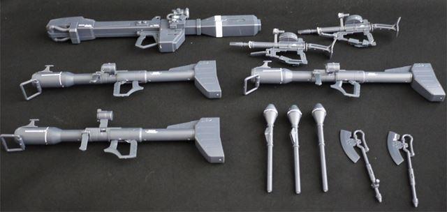 ジャイアント・バズーカ3本、ザク・マシンガン2本と大量の武器を追加します