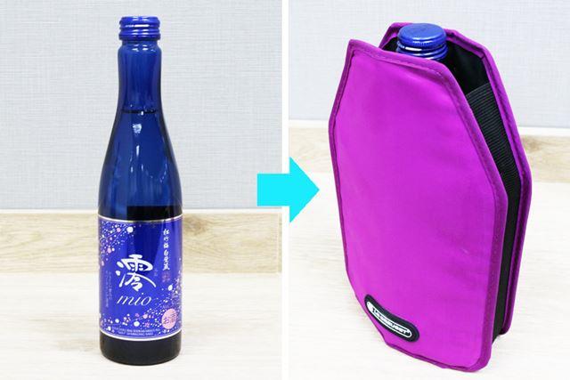もちろん、細くて背の低いボトルにも対応