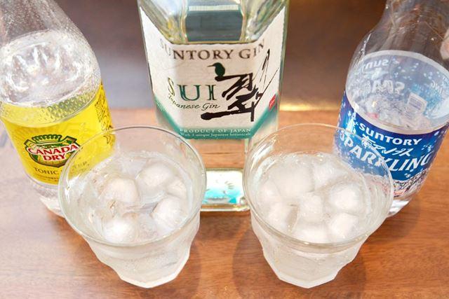 飲むタイミングによって、トニックウォーターとソーダは使い分けをしましょう。面倒ならソーダだけでもOK