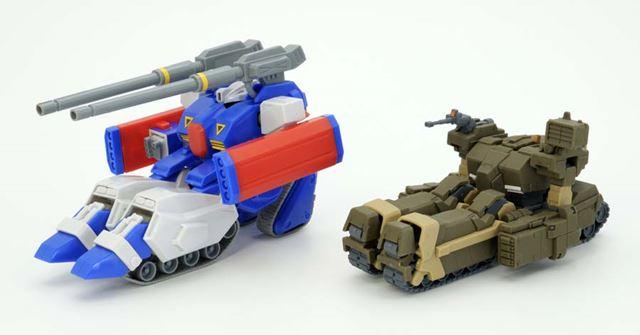 「1/100ガンタンクR-44」のタンクフォームと比較