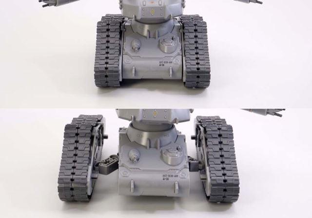 履帯ユニットは外側に引き出すことができます
