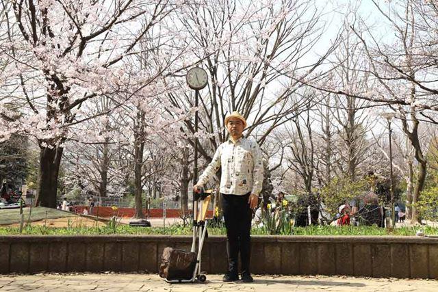 桜が咲いている近所の公園に仕事しに来ました。気温は20℃超えで「あー、春よなー」って感じ。最高