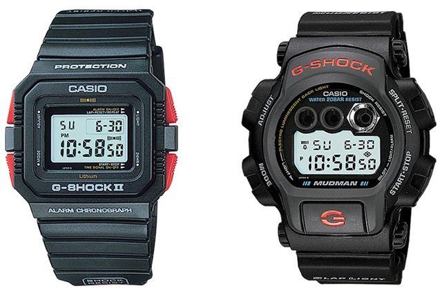 左が「DW-5500C-1」、右が「DW-8400-1」。ともに生産終了品●画像提供/カシオ計算機