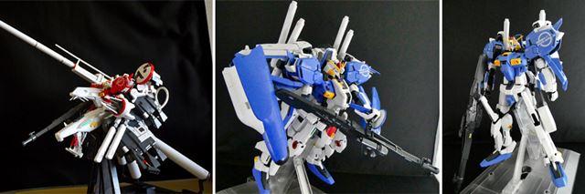 単体で重武装の「ディープストライカー」と、可変・変形機能搭載の重武装「EX-Sガンダム」「Sガンダム」