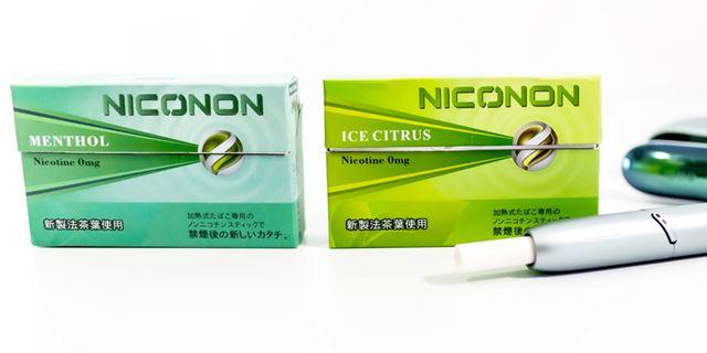 ノンニコチンスティック「NICONON(ニコノン)」。20本入り3箱セットで税込1,254円(1箱約418円)