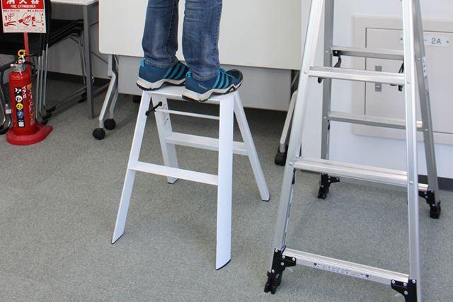 高さ80cm未満のものは踏み台です。こちらは天板に乗ってもOK