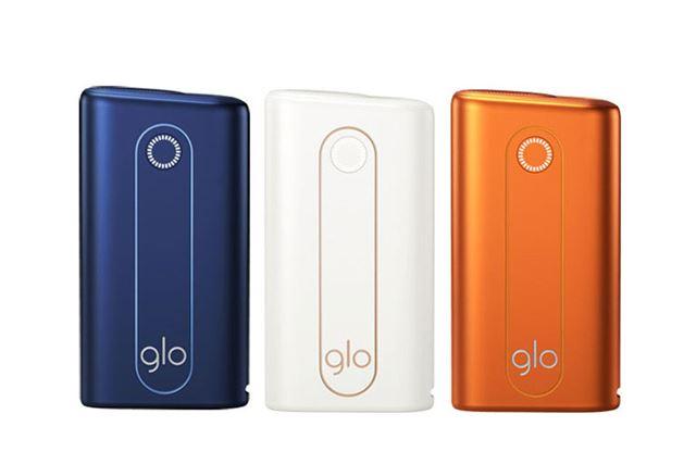 カラーは左から、ブルー、ホワイト、オレンジ。オレンジは、gloストアとgloオンラインストアでの限定販売だ