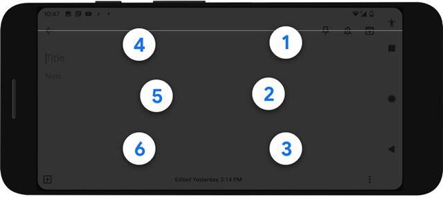 Android端末に実装される「TalkBack 点字キーボード」