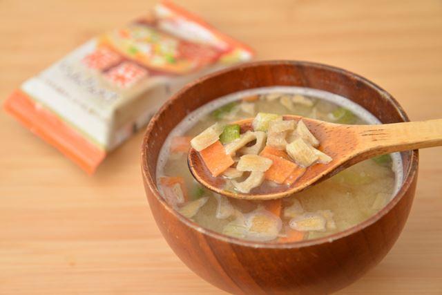 麦味噌と野菜だからか、甘みが際立つ味わい。野菜はホッコリしたおいしさです